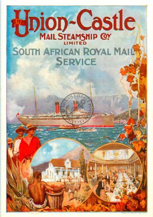 Union Castle South African Royal Mail Service Poster
